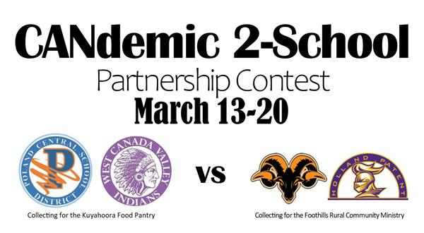 Candemic 2-school partnership contest March 13-20