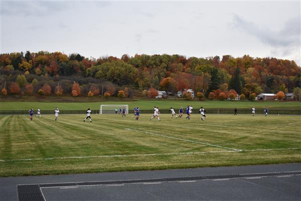 Poland and Frankfort-Schuyler girls soccer teams play the first game on the new field