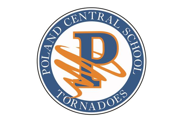 Blue and orange Poland Tornadoes logo