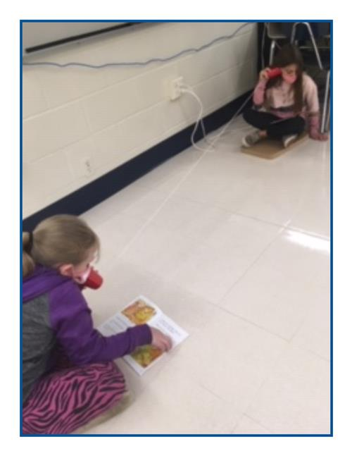 Wireless phones take on a different meaning during buddy reading activity