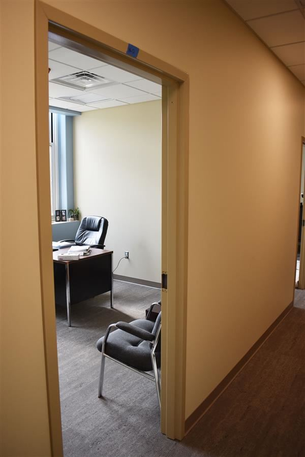 Mrs. Watrous office space from the hallway