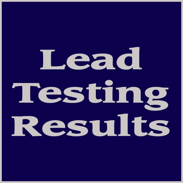 Lead testing results